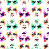 Abstract woman portrait .fashion background Royalty Free Stock Image