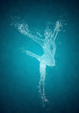 Abstract woman rhythmic gymnast Royalty Free Stock Image