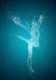 Abstract woman rhythmic gymnast Royalty Free Stock Image