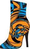 Abstract woman shoe. Beautiful colorful woman shoe illustration. Made in adobe illustrator Stock Photography