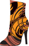 Abstract woman shoe. Beautiful colorful woman shoe illustration. Made in adobe illustrator Stock Images