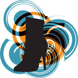 Abstract woman shoe. Beautiful colorful woman shoe illustration. Made in adobe illustrator Stock Image