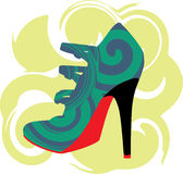 Abstract woman shoe. Beautiful colorful woman shoe illustration. Made in adobe illustrator Royalty Free Stock Photo