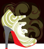 Abstract woman shoe. Beautiful colorful woman shoe illustration. Made in adobe illustrator Stock Photo