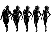 Abstract woman on the way to slimming Stock Images