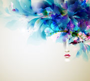 Abstract women. Beautiful abstract women with abstract design elements Royalty Free Stock Image
