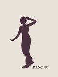 Abstract women in dancing pose Royalty Free Stock Images