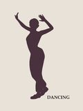 Abstract women in dancing pose Royalty Free Stock Photography