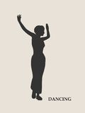 Abstract women in dancing pose Stock Photo