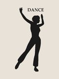 Abstract women in dancing pose Stock Photos