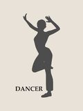 Abstract women in dancing pose Royalty Free Stock Photos