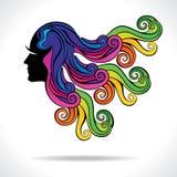 Abstract women hair Stock Photos