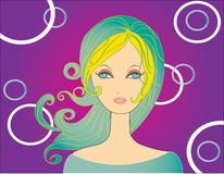 Abstract women illustration  Stock Photo