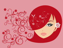 Abstract women illustration  love Stock Images