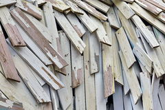 Abstract Wood  Background Or Texture From Nailing Boards Stack. With Hanging Nails Royalty Free Stock Photos