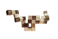 Abstract wood block toy Stock Photos