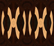 Abstract wood design with Ebony and Ramin Royalty Free Stock Images