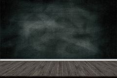 Abstract wood floor texture and chalk rubbed out on blackboard, for text or drawing, Education concept, stock images