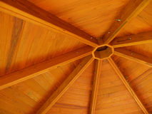 Abstract of wood roof Stock Image