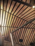Abstract wood roof. Abstract woonden roof structure for background or texture Royalty Free Stock Photo
