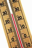 Abstract wood thermometer Stock Photos