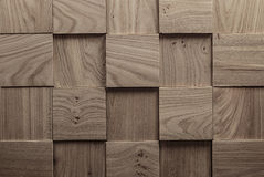 Abstract wooden background. elm. Texture of wood of square form and different thickness, laid in rows Royalty Free Stock Photography