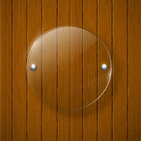 Abstract wooden background with glass framework. Vector illustration stock illustration