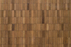 Abstract wooden background of teak tiles Royalty Free Stock Photo