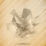 Abstract wooden background. Triangle design vector Royalty Free Stock Photo