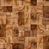 Abstract wooden blocks - seamless background - checkered lining Royalty Free Stock Images