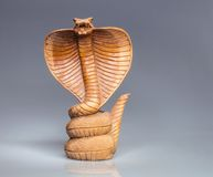 Abstract wooden cobra Stock Image
