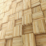 Abstract Wooden Cube background Stock Photos