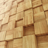 Abstract Wooden Cube background Stock Photo