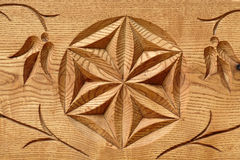 Abstract wooden flower Stock Photos