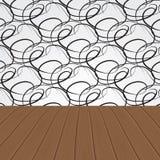 Abstract wooden interior. Vector illustration Stock Photo