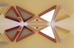 Abstract wooden light fixture Royalty Free Stock Photo
