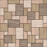 Abstract wooden paneling pattern - seamless background - Blasted Royalty Free Stock Photo