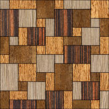 Abstract wooden paneling pattern - seamless background - wood Stock Photo