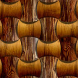 Abstract wooden paneling - seamless background - different wood Stock Images