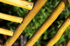 Abstract of wooden railing Royalty Free Stock Photo