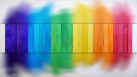 Abstract Wooden Rainbow Bridge Royalty Free Stock Image
