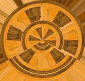 Abstract wooden sample wheel Stock Photo