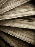 Abstract of a wooden spiral staircase Royalty Free Stock Photos