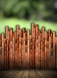 Abstract wooden structure in nature Stock Photos