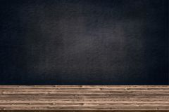 Abstract wooden table texture and chalk rubbed out on blackboard, for graphic add product,Education concept, Stock Images