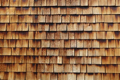 Abstract wooden texture of cedar shingles Royalty Free Stock Photo