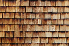 Abstract wooden texture of cedar shingles Royalty Free Stock Image