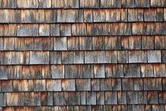 Abstract wooden texture of cedar shingles in Austria Royalty Free Stock Photos