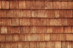 Abstract wooden texture of cedar shingles in Austria Stock Photography