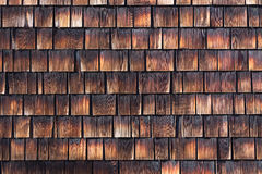 Abstract wooden texture of cedar shingles. Natural grain western red cedar color Royalty Free Stock Images